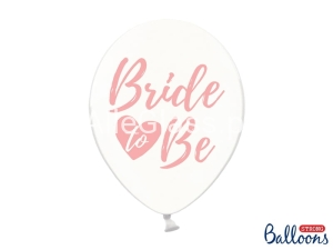 Balony  Bride to be Crystal Clear 30 cm / 6 szt.