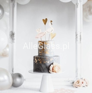 Toppery na Tort Lovely Swan Mix / 4 szt.