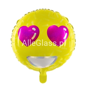 Balon foliowy Emotikon - Love 45cm