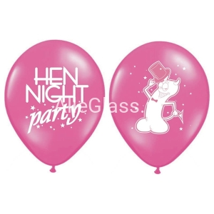 Balony 30cm Hen night party P. Hot Pink