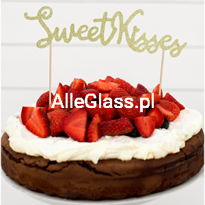 Topper na Tort Sweet Love - Sweet Kisses 16,5 cm.